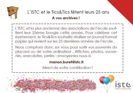 ticsettics-demandearchive-ISTC-25ans